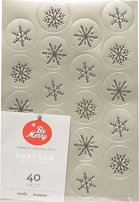 Gartner Studios Silver Foil Seals 4.25 x 6.25 40 Pack 18708