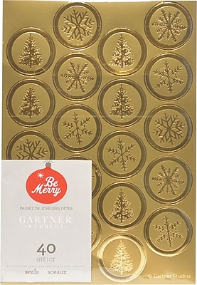 Gartner Studios Gold Foil Seals 4.25 x 6.25 40 Pack 18709