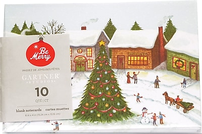 Gartner Studios Christmas Scene Notecard 4 x 6 10 Pack 18712