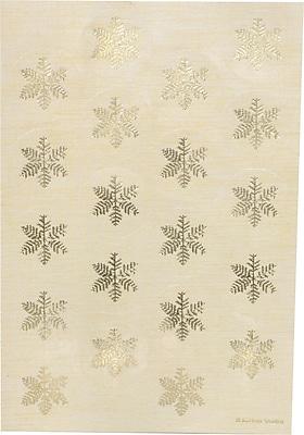 Gartner Studios Ivory Gold Snowflake Seals 4.25 x 6.25 40 Pack 18758