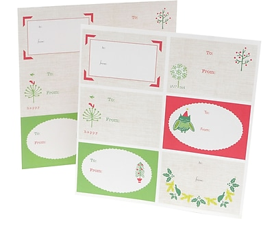 Mara Mi Trees and Owls Gift Labels 6.25 x 8 12 Pack 42884