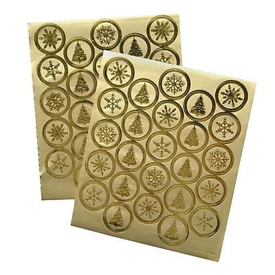 Gartner Studios Gold Foil Seals 5.25 x 6.25 50 Pack 60835