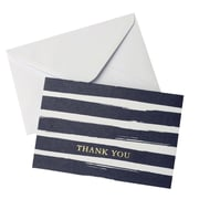 "Gartner Studios, Watercolor Stripe Navy Thank You, 10 Count, 4"" x 6"", (83768)"