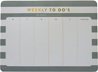 Eccolo Weekly Scheduler Mousepad List Pad ST910