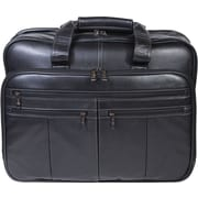 Scully® Genuine Premium Leather Checkpoint Friendly Briefcase, Black