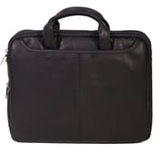 Scully® Genuine Plonge Leather Tablet Workbag, Black