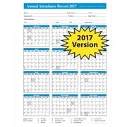 ComplyRight 2017 Attendance Calendar, White