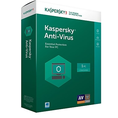 Kaspersky Anti Virus 2017 1 User Windows Disk 8130097