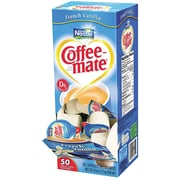 Nestlé® Coffee-mate® Coffee Creamer, French Vanilla, .375oz liquid creamer singles, 50 count