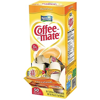 Nestlé® Coffee-mate® Coffee Creamer, Hazelnut, .375oz liquid creamer singles, 50 count