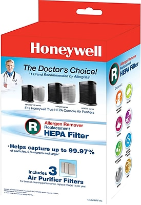 Honeywell True HEPA Replacement Filter R, 3 Pack 1023356