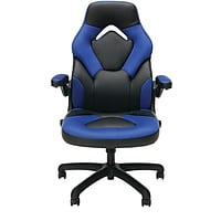 OFM ESS-3085-BLU Essentials Racing Style Leather Gaming Chair (Black/Blue)