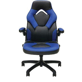 Ofm Ess 3085 Blu Racing Style Leather Gaming Chair Only
