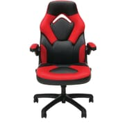 Essentials by OFM ESS-3085-RED Essentials by OFM Racing Style Leather Gaming Chair, Black/Red
