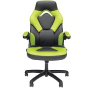 Essentials by OFM ESS-3085-GRN Essentials by OFM Racing Style Leather Gaming Chair, Black/Green