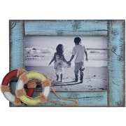 4x6 Weathered Blue with Life Rings Picture Frame