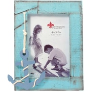 4x6 Weathered Blue with Anchor Picture Frame