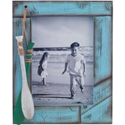 5x7 Weathered Blue with Oars Picture Frame