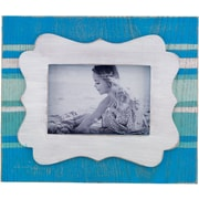 3.5x5 Ivory and Blue Picture Frame