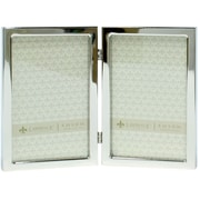 4x6 Hinged Double Silver Standard Metal Picture Frame