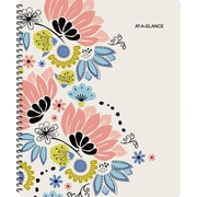 "2017-2018 AT-A-GLANCE® 8 1/2"" x 11"" Claire Academic Weekly/Monthly Planner, 12 Months, Floral (1014-905A-18)"