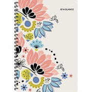 "2017-2018 AT-A-GLANCE® 4 7/8"" x 8"" Claire Academic Weekly/Monthly Planner, 12 Months, Floral (1014-200A-18)"