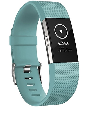 Fitbit Charge 2 Activity Tracker, Teal Silver, Small