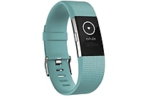 Fitbit Charge 2 Activity Tracker, Teal Silver, Large