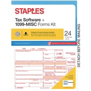 Staples 2016 Tax Forms, 1099-Misc Tax Software Kit, 24-Pack
