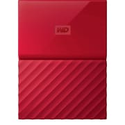 WD My Passport 2TB Portable Hard Drive, Red