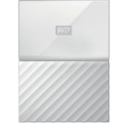 WD My Passport 1TB Portable Hard Drive, White
