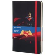 Moleskine, Limited Edition Notebook, Batman vs. Superman (Superman), Large, Ruled, Black