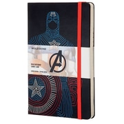 Moleskine, Limited Edition Notebook, The Avengers, Captain America, Large, Ruled, Black (852722)