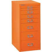 Bisley Eight Drawer Steel Multidrawer, Orange, Letter/A4 (MD8-OR)
