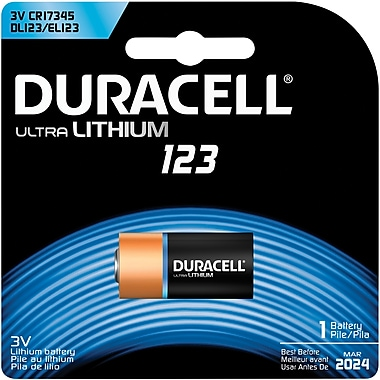 Duracell Ultra 3.0-Volt Lithium Battery (DL123ABPK)