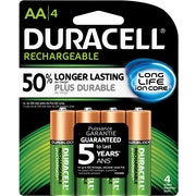 Duracell® AA Pre-Charged Rechargeable Batteries, 4/Pack