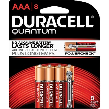 Duracell Battery Quantum Alkaline AAA, 8/Pack