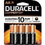 Duracell AA Alkaline Batteries, 8/Pack