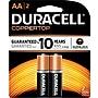 Duracell AA Alkaline Batteries, 2/Pack