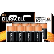 Duracell D Batteries, 8/Pack