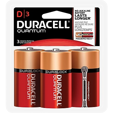 Duracell® Quantum Alkaline D Batteries, 3/pk