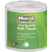 "Marcal 4580 2-Ply Premium Bathroom Tissue, White, 3 7/10""(W) x 4 33/100""(L), 504 Sheets"