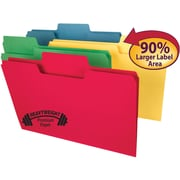 Smead SuperTab® Heavyweight File Folder, Oversized  1/3-Cut Tab, Legal Size, Assorted Colors, 50 Per Box (15401)