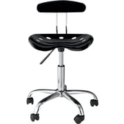 OneSpace Plastic Tractor Seat Task chair, Black (60-101505)