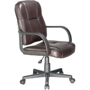 Relaxzen Bonded Leather Massage Task Chair, Brown (60-681408)