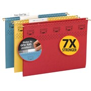 Smead® TUFF® Hanging File Folder with Easy Slide Tab, 1/3-Cut Sliding Tab, Assorted Colors, 15/Box