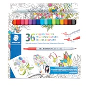 Staedtler Duo-Color Fiber-tip Pen, 36-count