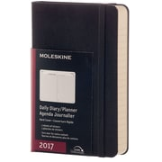 "2017 Moleskine® Daily Planner, 12 Month, 3.5"" x 5.5"", Black Hard Cover, Pocket (893175)"