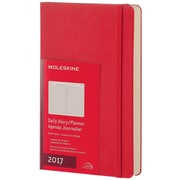 "2017 Moleskine® Daily Planner, 12 Month, 5"" x 8.25"", Scarlet Red Hard Cover, Large (893212)"