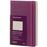"2017 Moleskine® Daily Planner, 12 Month, 5"" x 8.25"", Grape Violot Hard Cover, Large (894059)"